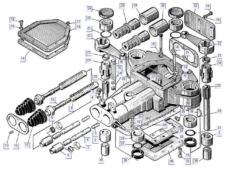 Сервомеханизм управления поворотом 21-17-4СП (для механической трансмиссии)