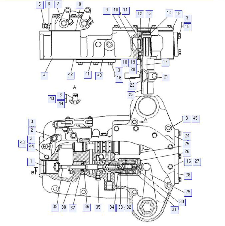 Сервомеханизм управления поворотом 64-17-2СП (для гидромеханической трансмиссии)