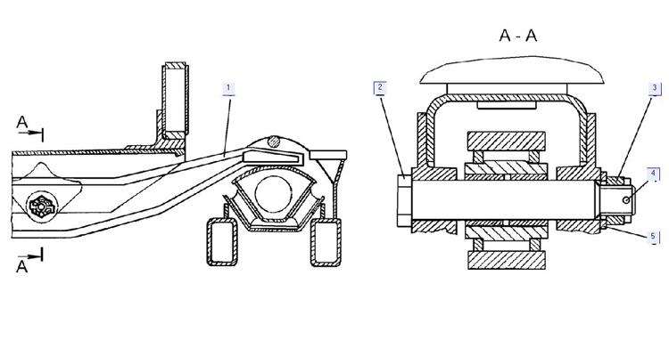 Установка балки маятникового прицепного устройства