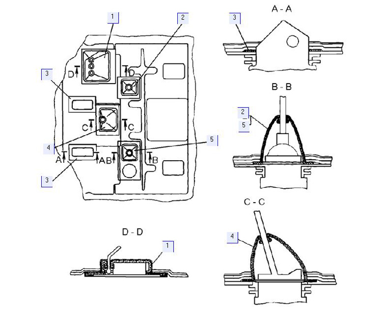 Установка уплотнений рычагов управления трактором с МТ