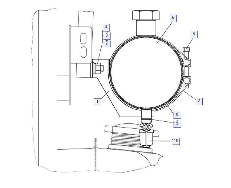 Установка топливного бачка отопителя AIRTRONIC D4