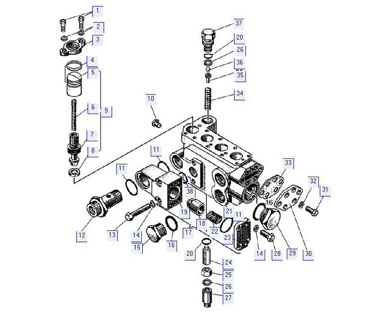 Гидрораспределитель. Корпус 50-26-61СП; 50-26-731СП