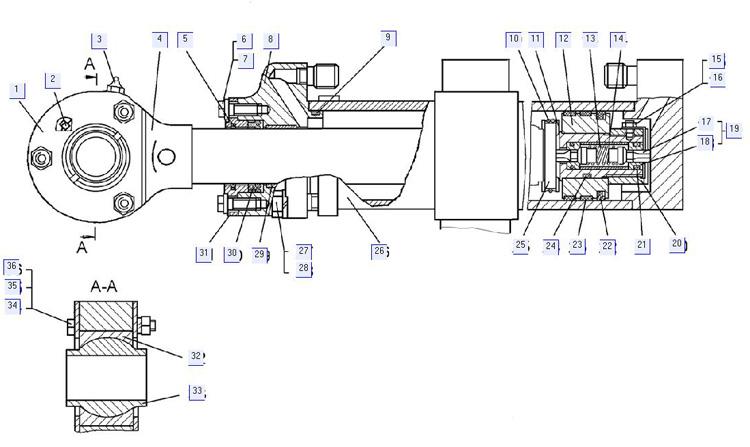Гидроцилиндр 131-26-108-02СП