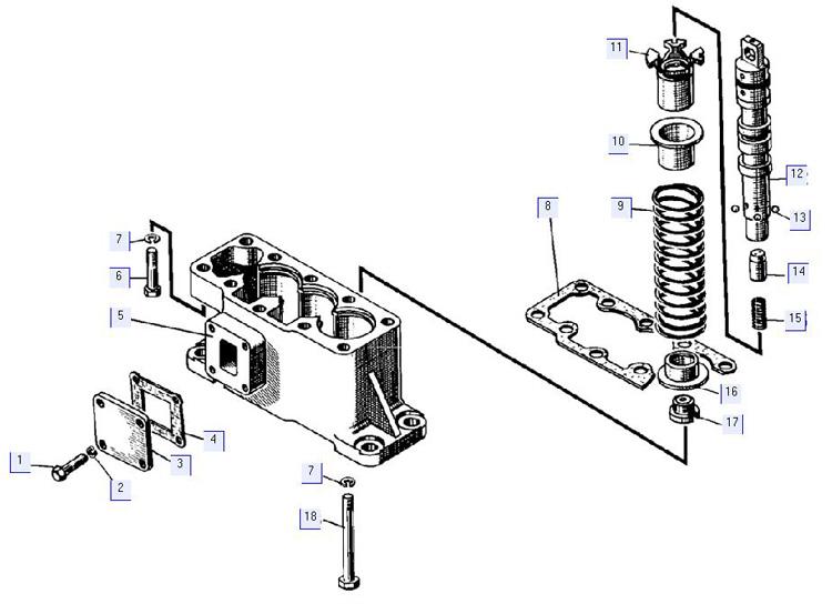 Гидрораспределитель. Крышка нижняя 50-26-61СП