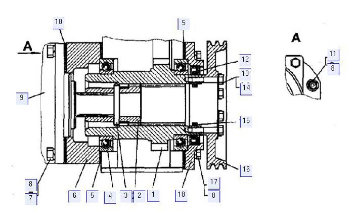 Установка привода насоса и компрессора