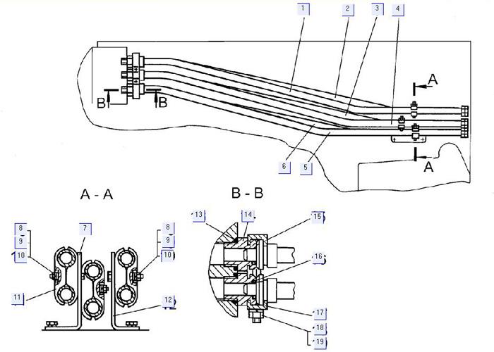 Установка задних трубопроводов