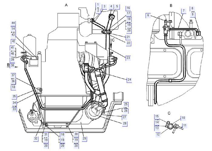 Установка подогревателя (для трактора с электростартерным пуском двигателя)