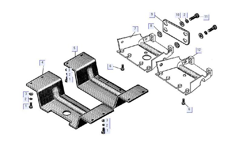 Установка защиты трансмиссии 64-51-22СП; 64-51-22-01СП; 67-51-3СП; 67-51-3-01СП