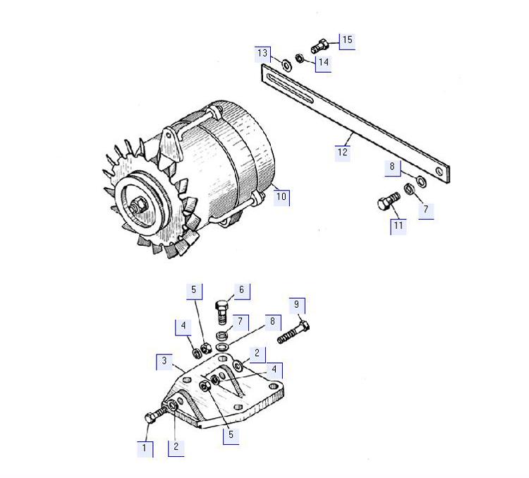 Установка генератора 50-10-374СП