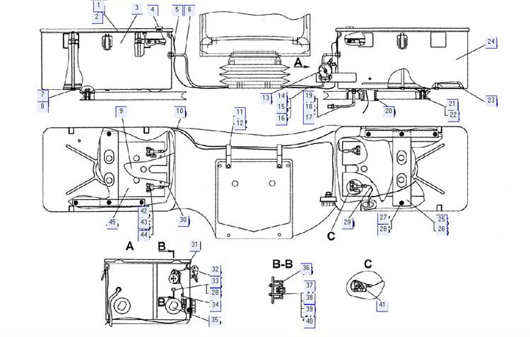Установка аккумуляторных батарей (для трактора с МТ с ЭССП)