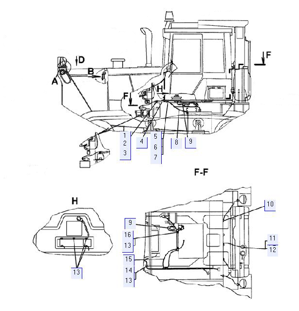 Электрооборудование (для трактора с механической трансмиссией)