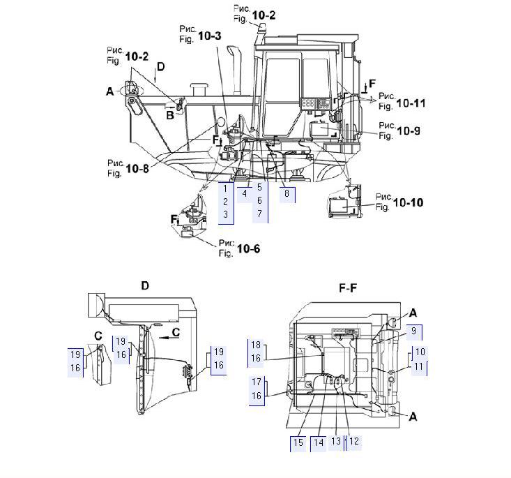 Электрооборудование трактора (с гидромеханической трансмиссией)