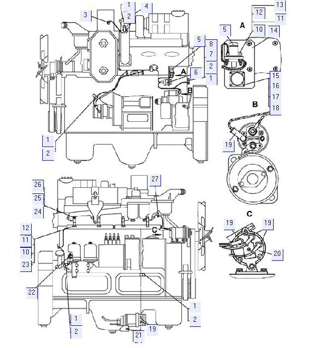 Электрооборудование дизеля (с пусковым двигателем)