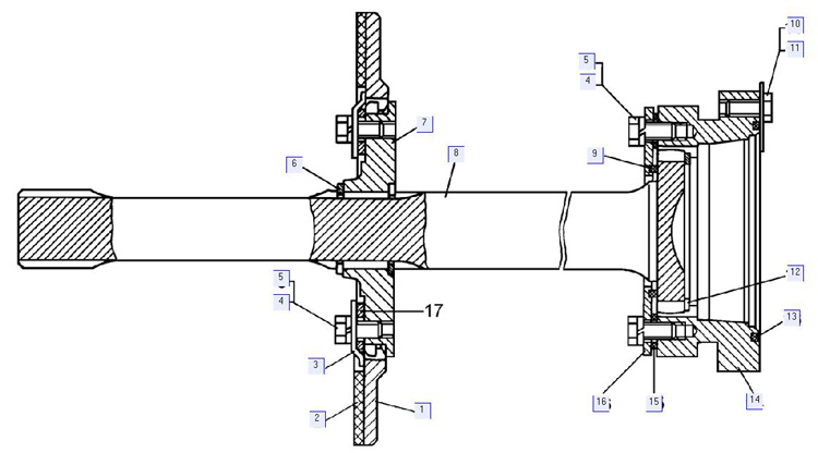 Детали муфты сцепления болотоходного трактора