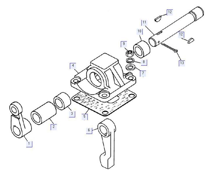 Привод механизма включения (для трактора с пусковым двигателем) 64-14-119СП