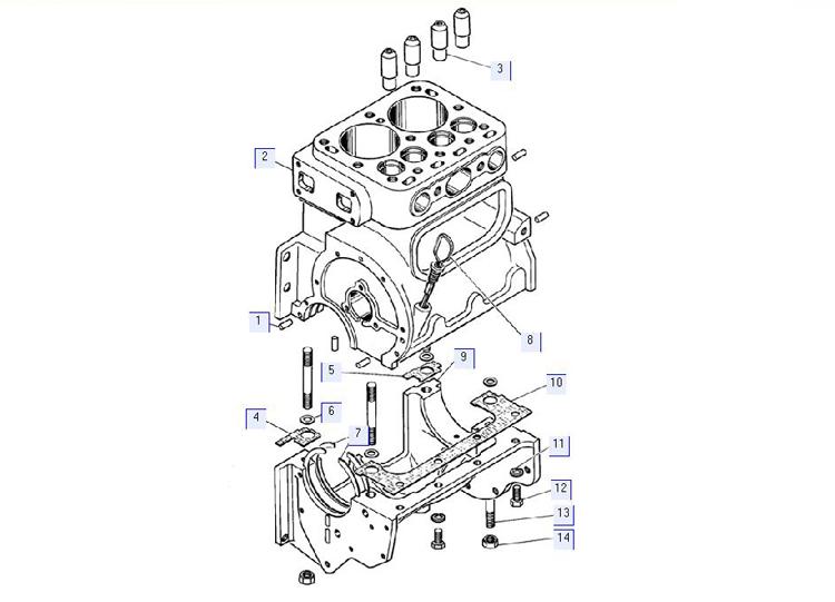 Блок-картер пускового двигателя