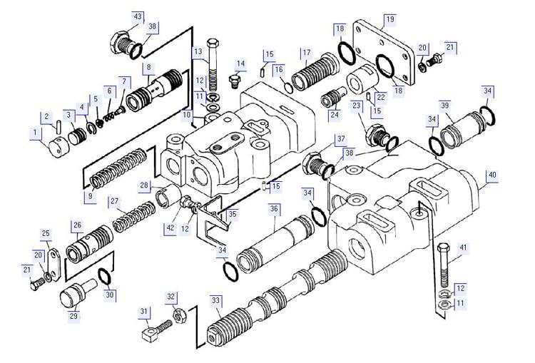 Блок клапанов 64-12-200СП; 64-12-203СП