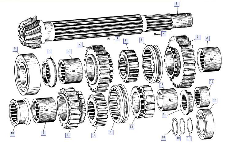 Вал нижний 50-12-224СП