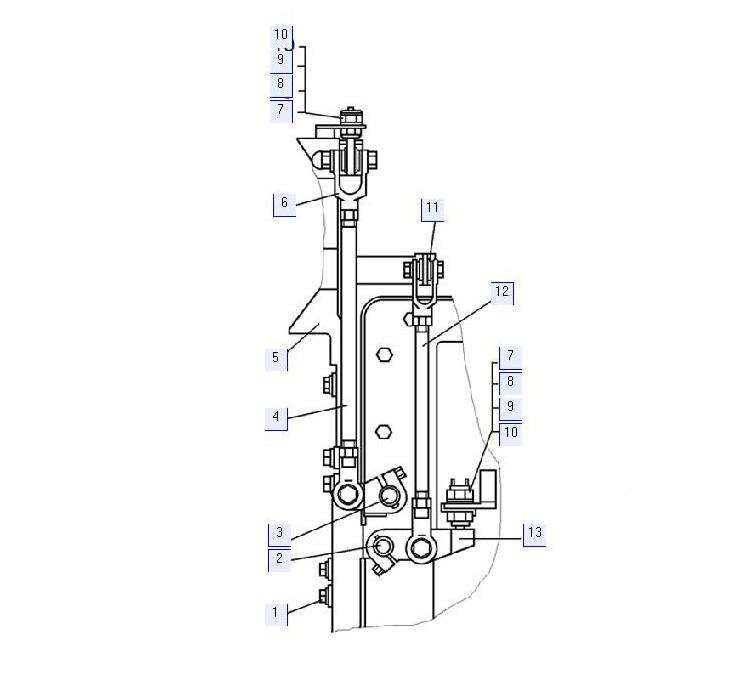 Коробка передач. Детали управления (для болотоходного трактора)