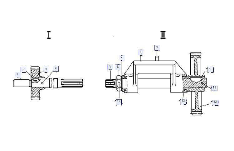 Валики привода масляного насоса 51-09-218СП; 51-09-226СП