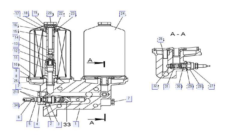 Фильтр масляный 65-09-123СП
