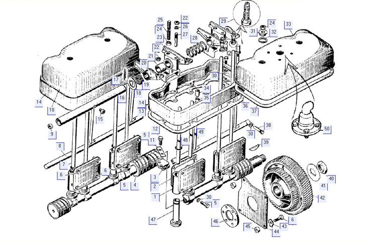 Механизм газораспределения дизеля