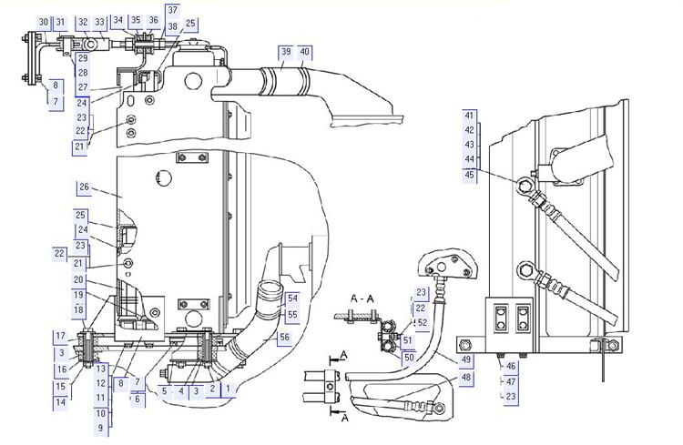 Установка радиаторов (для трактора с